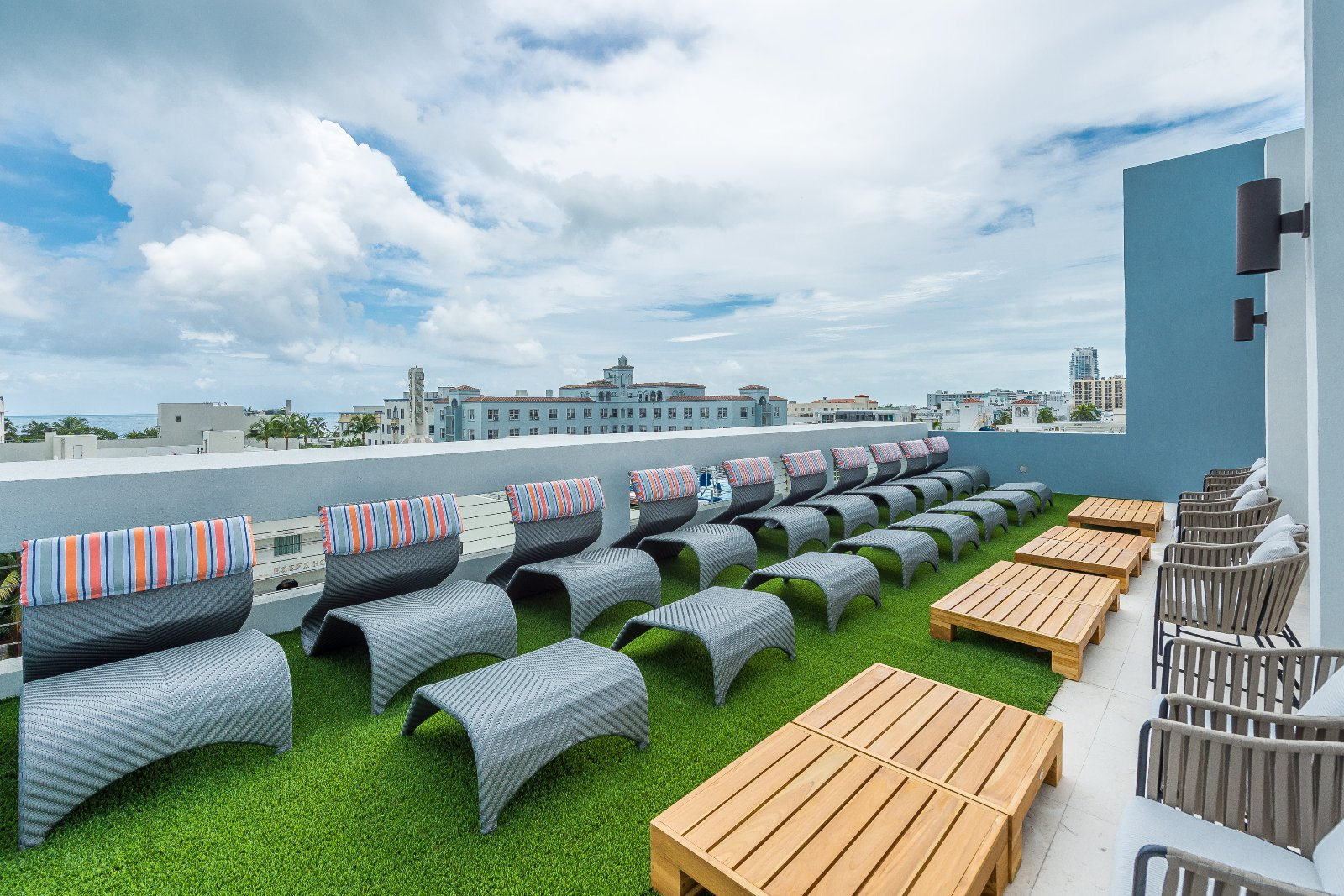 Image Slide3 Link To Larger Rooftop Deck At Fairwind Hotel In Miami Beach Fl